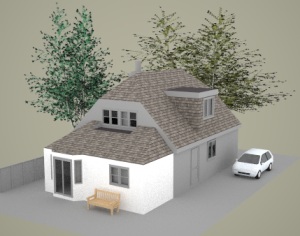 3D perspective-Rear Extension